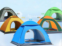 Wholesale Door Canopies - 4 Person Portable Waterproof Instant Pop Up Tent Camping Beach Shelter Canopy tents for camping canvas tents FAMILY TENT camping tents