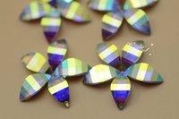 Wholesale Flat Back Flower Beads - 50 pcs 19mm Acrylic beads Flower AB Sew On Flat Back Jewels