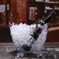 wine barrel ice bucket al por mayor-4L Non-luminance Ice Bucket Bar Skull Acrílico Plastic Wine Buckt Champán Barriles Vino tinto Ice Bucket Bar Cerveza KTVBar Whisky Led Ice Bucket