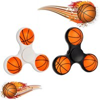 Plastique de football Prix-5pcs / lot New Fashion Baseketball Football Hand Spinners Spirator en plastique Fidget pour l'autisme EDC et ADHD Anti Stress Toy