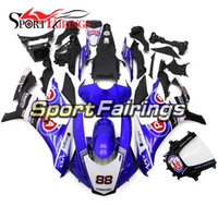 Carenados completos de inyección para Yamaha YZF R1 15 16 YZF-R1 2015 2016 Kit de carenado de plástico ABS Carene Body Kit azul blanco negro