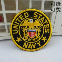 Wholesale Navy Seal Vests - Military Seal United States Navy USN EAGLE Flag Anchor Iron on Embroidered patch Gift shirt bag trousers coat Vest Individuality