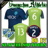 Wholesale Thailand Seattle Sounders shirts Dempsey Alonso Martins football shirts Shirt Seattle Sounders Jerseys