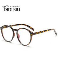 Wholesale Leopard Print Spectacle Frames - DIDI Round Plastic Leopard Glasses Frame Vintage Spectacle Frames For Women Men Accessories Eyewear Frames Lunette De Vue H144