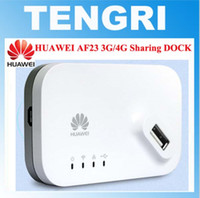 Wholesale 4g Router Wholesale - Original unlocked Huawei AF23 300M LTE 4G LTE 3G USB Sharing Dock WiFi Wireless Router AP Repeater With WAN LAN Port Broadband