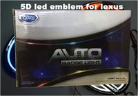 Wholesale lexus car emblem - 5D car led emblem car led badge car led symbols logo white red blue color for Lex*s