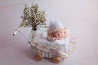 Wholesale Baby Photo Props Mohair - Newborn hat photo prop Baby mohair bonnet photography prop Baby Knit lace hat prop