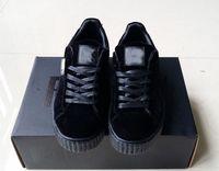 Wholesale Creeper Shoes Printed - Hot 2017 Suede Creeper Black Star White Black Women Men Casual Shoes, Fashion Ladies Rihanna shoes sneakers women men 36-44