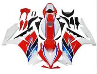 ingrosso corone di hrc-Tre bellissimi regali gratuiti e nuove carenature ABS di alta qualità per HONDA CBR1000RR 2012-2016 set bel corpo bianco rosso blu HRC