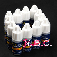 Wholesale Glue 3g - Wholesale- 12x 3g False Nail Art Gel Nail Decoration Tips Glue Fast Drying Acrylic Glue Manicure