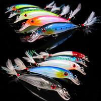 Wholesale Japan Wholesale Fishing Hooks - Polapofei 10Pcs Set Minnow Fish Fishing Lure Japan Peche Wobbler Crankbait Bass Pike Prout Carp Bait Tackle Hook Yo Zuri C27