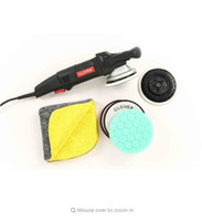 Wholesale Forced rotation Dual Action polisher set with FLEX type quot and quot backing pads and Hex foam pads and GSM towel