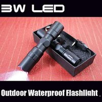 Wholesale Waterproof Diving Torch - 2016 new LED Mini Flashlights & Torches 3W LED 1AA Led Handy Outdoor Waterproof For Sporting Camping electric torch Aluminum alloy material