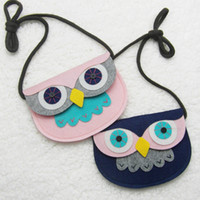 Wholesale Animal Shape Baby Toys Owl Style Handmade Non woven Fabric Patch DIY Children Mini Bags Kids Girl Toy Bag Small Pouch Plush Bags