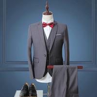 Wholesale Designer Mens Business Suits - 2017 Men Suit Latest Coat Pant Designs Slim Fit Mens White Wedding Suit Luxury Designer Prom Suits business plus size 6XL
