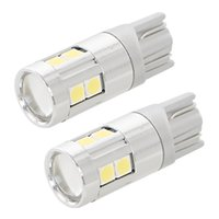 Wholesale pair license plate - wholesale Dome Reading Lamps High Quality LED License Plate Lights Canbus Clearance Lights 1 Pair T10 9SMD 3030 Reversing Lamps