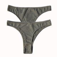 Wholesale Tanga Pants - Women Cotton Panties Breathable Low Waist Sexy Thongs G Strings Tanga T Back Brief High Quality Ladies Underwear Pants Lingerie