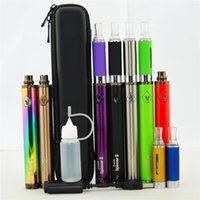 Oil Vape Pen Vision Spinner 2 II 1650mah eGo C Twist H2 CE4 CE5 MT3 Starter Kit Cigarette électronique Variable Voltage Mini Zipper Case