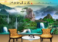 Wholesale Custom Photo Fabric - 3d photo Custom wallpaper for walls 3 d Landscape painting oil background wall wallpaper mural photo