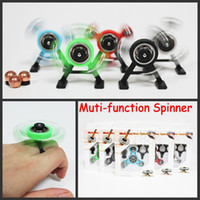 Wholesale Slid Toy - Muti-function Spinner Fidget Spinners Snap Spinner Center Snap Goll Slide Top Spin Pencil EDC Toy Decompression Toys with Retail Packaging
