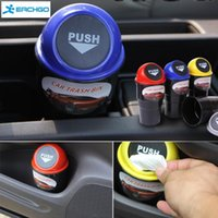 Conveniente Mini Auto Car Home Trash Basura Can Garbage Dust Case Titular Caja Bin Dustbin Car styling
