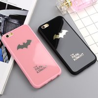 Dark Kinght Batman Tampa do telefone celular para iphone 6 6s 7 Plus Caso de silicone para espelho para iphone 7 6 6s 8 Plus Phone Cases Shell Coque