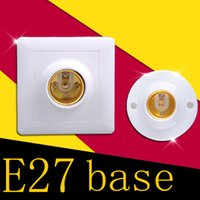 Wholesale E27 Screw Bulb - Wholesale E27 Holder Socket Screw E27 Base Lamp Plastic Sockets Fitting For Lights Bulb Spotlight Lighting Square Round 220V