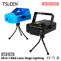 Vente en gros + + Vente chaude + 20 en 1 Mini RG portable 110-240V laser Meteor Projecteur Lights DJ KTV Accueil Party Dsico LED Stage Lighting #