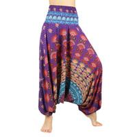 Wholesale plus woman yoga pants for sale - Wide Leg Pants Women India Large Crotch Belly Dance Loose Fit Yoga Pants Women Plus Size Long Trousers Beach Pants