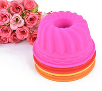 Wholesale Pumpkin Baking - Pumpkin Shape 3D Cake Cup Silicone Muffin Cupcake Mold Baking Tools Cake Decorating Tools For Bakeware 6.5*3CM