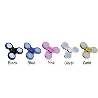 Led Spinner Lega di zinco LED Spinner metallo placcatura LED Fidget finger finger finger Gyro Tri triangolo Handspinner giocattoli EDC Decompression Toy