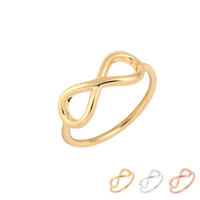 Cheap Price New Fashion Simple Silver Plated Infinity Rings Número 8 para Mulheres Party Gift Acessórios infinitos Minimalist Jewelry EFR069