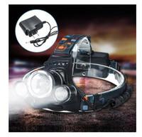 phare projecteur lampe zoom réglable achat en gros de-8000Lumens Haute puissance 3x XM-L T6 LED 3T6 phare rechargeable phare torche pour vélo vélo + prise de charge