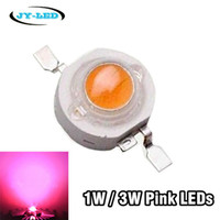 Wholesale Power Source 1w - Wholesale-50pcs 1W 3W Pink LED Chip, 3.2-3.4v, 350mA 700mA High Power LED Beads For Lamp Light Source