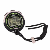 Wholesale Stop Counter - Wholesale- Professional Handheld Sports Mance Digital LCD Chronograph Counter Stopwatch Counter Odometer Timer Stop Watch Running Fitness