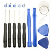 herramienta kit de reparación de teléfono tornillo al por mayor-Kit de herramientas de destornilladores 11 en 1 Kit de herramientas de reparación de teléfonos celulares para iPhone Samsung HTC Sony Motorola LG