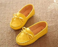 Wholesale White Slips For Children - NO AM001-017 Children casual shoes fashion color flat shoes for kids, boys and girls patent leather