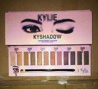 Wholesale Eyeshadow 12 Colour Palette - Kylie jenner eye shadow palette eyeshadow brand makeup palettes colour pop Make Up Cosmetics Bronzer Moisturizer Long-lasting 12 colors