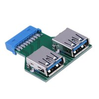 Wholesale Motherboard Connector Pins - Motherboard 19 PIN Header Connector to 2 USB3.0 Port Adapter USB 3.0 Hub