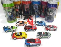 Wholesale Remote Control Mini Car - New Free Epacket 8 color Mini-Racer Remote Control Car Coke Can Mini RC Radio Remote Control Micro Racing 1:64 Car 8803