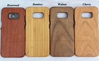 Wholesale Hard Wood Back Cover Case - 100% Real Wood Case For Samsung Galaxy S8 Phone Cover S8 Plus Nature Luxury Wooden Bamboo Hard Back Cases For Samusng S8 S8plus