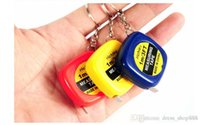 Wholesale Mini Retractable Measuring Tape - Portable Mini keychain 1 meter tape measure ruler 1 yuan spike small amount of clothing 1m automatic retractable foot small ruler