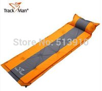 Wholesale Automatic Inflating Mattress - Wholesale- Trackman Single person automatic inflatable mattress inflating cushion spliced outdoor camping hiking riding picnic mats BBQ