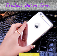 Wholesale Iphone Wit - Luxury Fashion Design Mirror Housing Case Phone Protector Cover Wit Window For iPhone aphon 5 5s SE   6 6s   6s plus