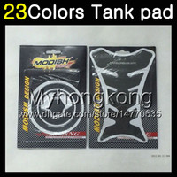 Wholesale 1992 zx11 - 23Colors 3D Carbon Fiber Gas Tank Pad Protector For KAWASAKI NINJA ZX11R 90 91 92 ZX-11R ZX11 R ZZR1100 1990 1991 1992 3D Tank Cap Sticker