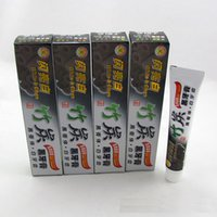 Wholesale Herbal Treatments - Bamboo Charcoal Teeth Whitening Toothpaste Destroys Bad Breath Best Natural Black Tooth Paste Kit Herbal Decay Treatment