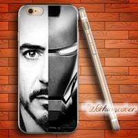 funda silicona hombre hierro al por mayor-Fundas Iron Man Tony Stark Funda blanda de TPU para iPhone 6 6S 7 Plus 5S SE 5 5C 4S Funda de silicona 4.