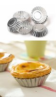 Wholesale Egg Tarts Mould - Round shape Muffin egg tart pudding Cases Cake Cupcake Liner Baking Cooking Mold 3 size