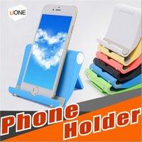 lectores de teléfonos celulares al por mayor-Soporte universal ajustable para teléfono celular Soporte para teléfono plegable Soporte para iPhone X 8PLUS Samsung LG Smartphone Tablet E-Reader