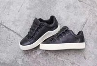 Wholesale Low Top Skateboard Shoes - 2017 holiday low top sneaker bl brand arena shoes junior skateboard shoes thick sole black with white super quality
